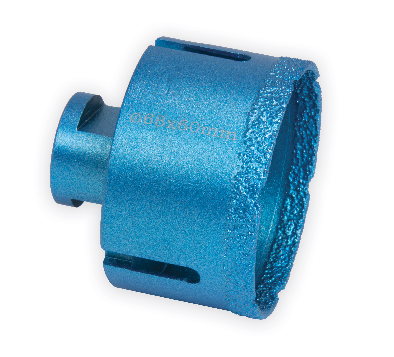 Korunka diamantová priemer 68mm  pre otvory do  betónu, kameňa, keramiky