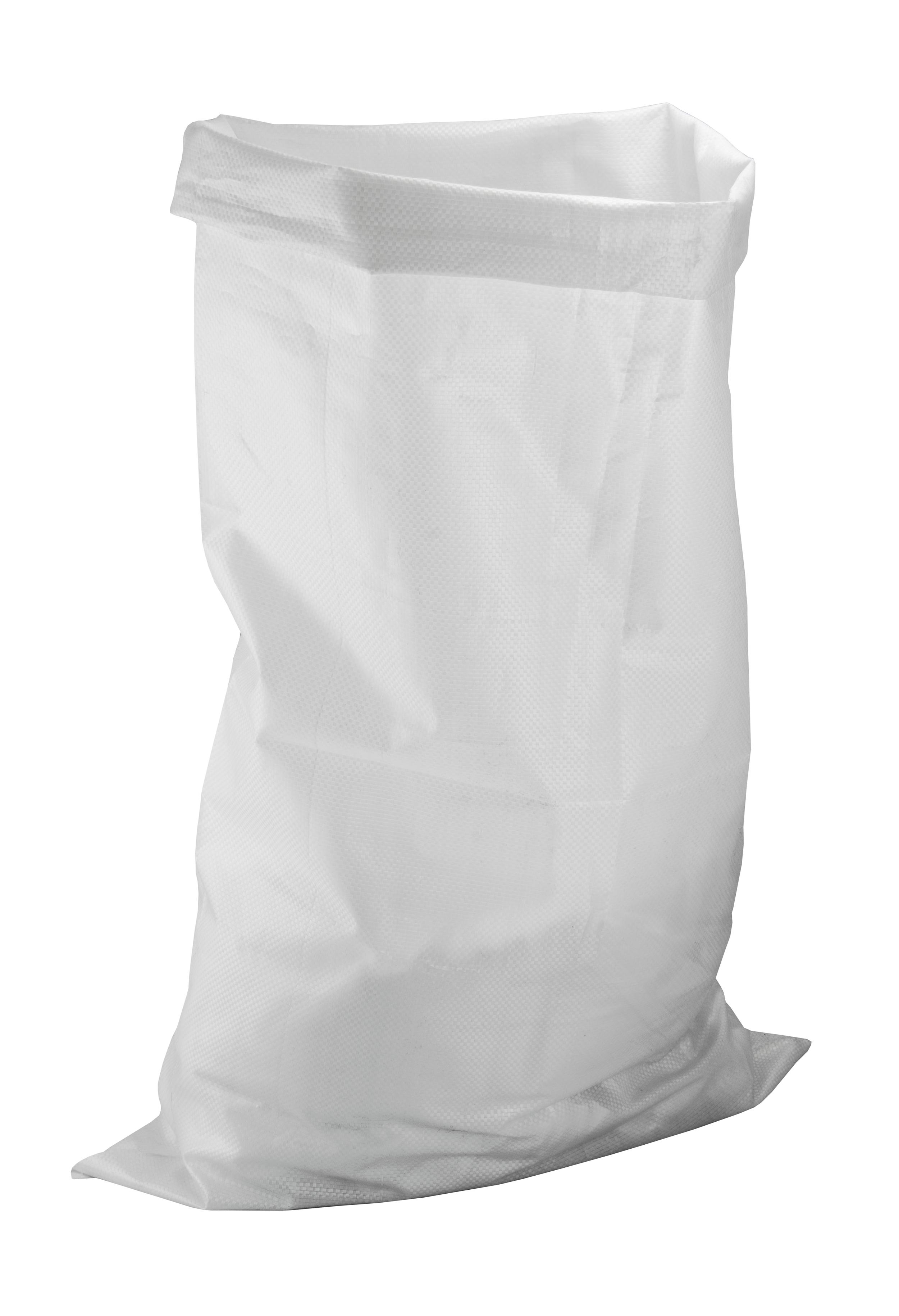 Stavebné vrece PP, 65x100 cm, 65 g/m2, biele, 110 L