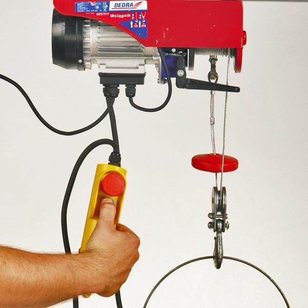 Elektrické zdvíhacie zariadenie lanové 1000W, 500/kg/6m; 250/kg/12m