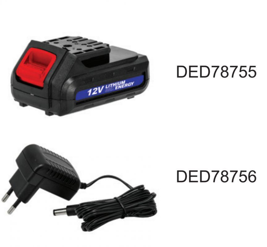 Akumulátorový skrutkovač 12V, 1,5Ah, 3-5h, 0-700rpm-1ks